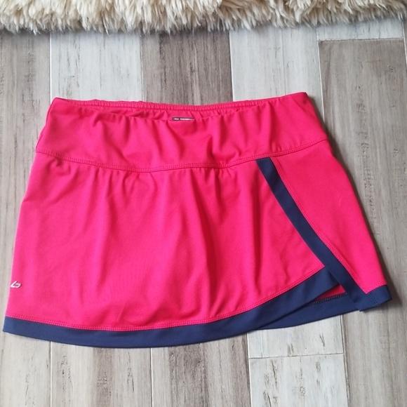 bolle Dresses & Skirts - Bolle Faux Wrap Tennis Skirt Skort Rose Pink Navy